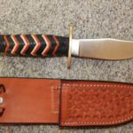 Hunting Knife with stainless Solingen Steel Blade and Kangaroo Braided Handle