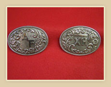 Two Silver Buckles