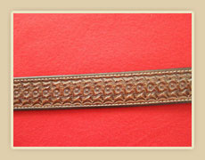 Tooled Leather Belt