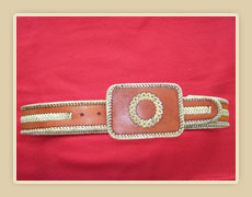 Belt  with rawhide lace and accents