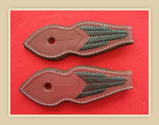 Latigo doubled and stiched Slobber leathers with Kangaroo Lacing