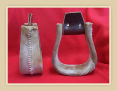 Rawhide covered stirrups
