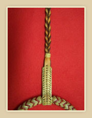 Rawhide Bosalita braided with horse hide with hanger