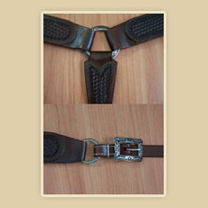 Heavy Duty fancy breast collar details
