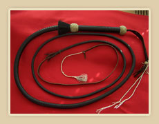 Kangaroo 8 ft. braided whip with rawhide knots and horse hair