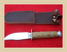 Rawhide braided knife handle and sheath