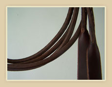 Rounded leather split reins
