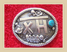 Sterling silver personalized belt buckle
